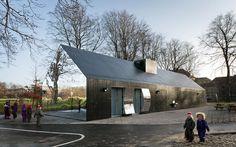 Mirror Walls House gets playful in Copenhagen park