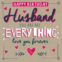 happy birthday husband card - Google Search