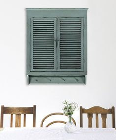 Look what I found on #zulily! Distressed Cottage Blue Louvered Cabinet #zulilyfinds