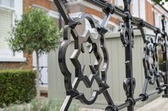 Wrought Iron Railings, which replaced cast iron as the material of choice, are hard wearing, secure and act as statement piece for your front garden project.