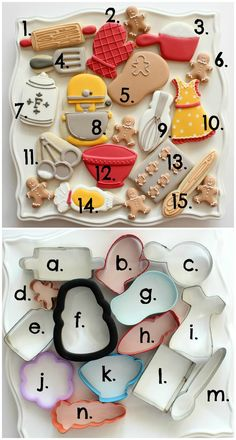 Why didn't I think of this? I willbe using different themes for my cookies from now on instead of just decprating them differently. (how to bake cookies shape) Fancy Cookies, Cake Mix Cookies, Cut Out Cookies, Iced Cookies, Cute Cookies, Royal Icing Cookies, Cookies Et Biscuits, Sugar Cookies, Cake Pops