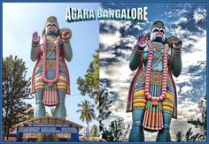 102 feet height cloud talking sculpture of Lord Hanuman is situated at Hanuman temple; Agara village belongs to Bangalore south taluka under Bangalore district in the in the Indian southern state of Karnataka. It is located on Outer Ring Road close to Koramangala and HSR Layout. There is popular 'Agara Lake' situated close to the Agara village. The history of Lake can be traced back to the 8th century. Evidence of the existence of Lake is found in historical documents related to the city
