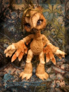 Special Hoot the Owl ball joint doll / BJD by TheMushroomPeddler, $345.00