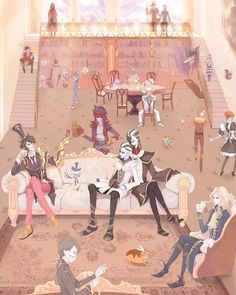 One day in the manor Credit to the artist Id Identity, V Games, Pandora Hearts, Cute Art, Cool Drawings, Joseph, Geek Stuff, Fan Art, Animation