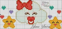 This Pin was discovered by Zeh Cross Stitching, Cross Stitch Embroidery, Cross Stitch Patterns, Beading Patterns, Embroidery Patterns, X Picture, Cross Stitch Baby, C2c, Baby Disney