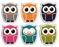Kikkerland Owl Magnet Set of 6: Refrigerator Magnets