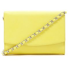 Forever 21 Chain-Trim Crossbody (512.275 VND) ❤ liked on Polyvore featuring bags, handbags, shoulder bags, yellow handbag, forever 21, yellow crossbody, crossbody shoulder bags and fold over purse