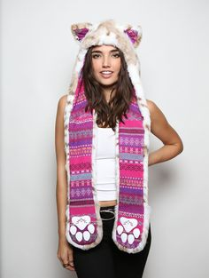Siberian Snow Leopard *Unisex* Collector SpiritHood