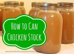 How to can chicken stock at home (save freezer space)