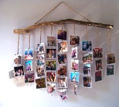 30 Fantastic Ways To Display Your Photos In Your House - Feminine Buzz - A Lady's Home Decor - Photo Wall Hanging, Photo Wall Decor, Diy Wall Decor, Diy Para A Casa, Picture On Wood, Diy Home Crafts, Diy Photo, Handmade Home Decor, Photo Displays