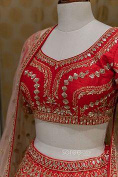 Raw Silk Lehenga, Red Lehenga, Bridal Lehenga Choli, Raw Silk Fabric, Beautiful Blouses, Special Occasion, Crop Tops, How To Wear, Women