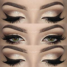 Maquillaje #cateye con #glitter #makeup #maquillaje