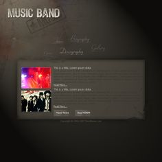 Design an Awesome Band Website Template
