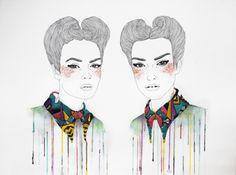 bordado e ilustração, por Izziyana Suhaimi