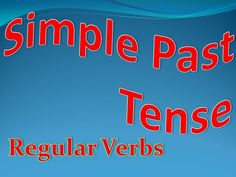 Continuing with verb conjugation, here's an article about the simple past and regular verbs.