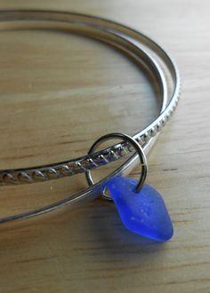 Sea Glass Jewelry  Twilight  Beach Glass Charm by SeaFindDesigns, $15.00