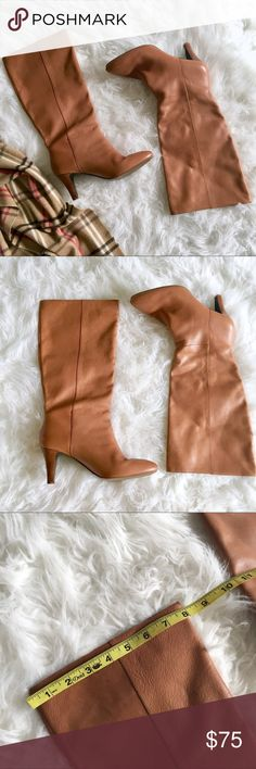 BANANA REPUBLIC Knee High Boots The perfect fall boot in a beautiful camel color. In a AMAZING pre-opened condition!! There a is waterspot, refer to pics for reference. Banana Republic Shoes Heeled Boots