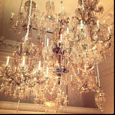 The chandelier from the old pump room. Absolutely stunning in person.
