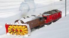 Awesome Powerful Snow Plow Train Blower Through Deep Snow railway tracks Full HD Compilation Work Train, Rail Transport, Swiss Railways, Choo Choo Train, Old Trains, Train Pictures, Snow Plow, Rolling Stock, Train Tracks