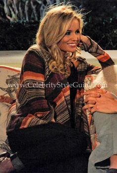 Bachelorette Style & Fashion: Emily Maynard was wrapped in the Goddis Navarro Hooded Wrap Sweater in Indian Sunset on the Bachelorette