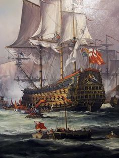 English King Charles II Receiving the Fleet After the Battle of Sole Bay, 1672