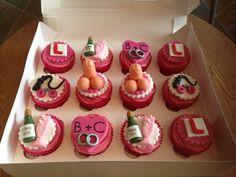 Hen Do Cupcakes Bachelorette Party Cupcakes, Bachelorette Lingerie Party, Bridal Shower Cupcakes, Bachelorette Party Decorations, Wedding Cupcakes, Party Food Games, Hen Party Cakes, Bachelor Cake, Pleasure Party