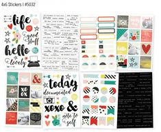 LOVING the new #SimpleStories #LifeInColor Collection!! I especially like these stickers for my planner!!