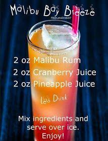 Malibu Pina Colada  Cocktails Beer Mats x 50  Drink Coasters Cardboard  2 Sided
