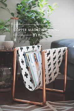 Copper Magazine Stand | DIY