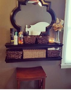 Floating shelf vanity