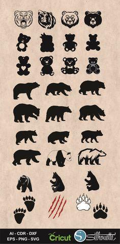 100 Panda Bear Tattoo Designs For Men – Manly Ink Ideas - Tattoo Silhouette Tattoos, Animal Silhouette, Black Bear Tattoo, Pirate Ship Tattoos, Teddy Bear Tattoos, Claw Tattoo, Head Tattoos, Gun Tattoos, Bear Head