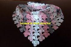 MALZEMELER: Alize gold batik 1 adet 2.5 ya da 3 numara tığ YAPILIŞI: 10 zincir çekilir.6.zincire ipliksiz batılır. 5 zincir çekili... Free Knitting, Baby Knitting, Knitting Patterns, Crochet Patterns, Crochet Scarves, Crochet Shawl, Knit Crochet, Crochet Books, Knit Wrap