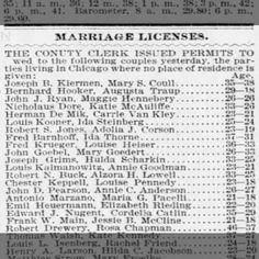 Hazel Hoevker - LifeStory Free Genealogy Search, Marriage License, Thing 1
