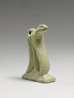 Faience snake amulet