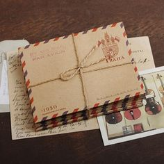 Mini Kraft Envelopes Vintage Prague by AdoreNeko on Etsy, $3.50