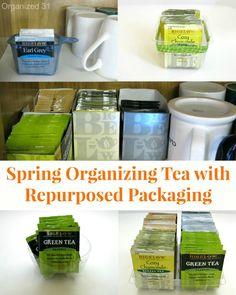 Spring Organize Tea with Repurposed Packaging - Organized 31 - #AmericasTea #shop #cbias