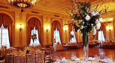 : Located in the heart of Midtown, just steps away from Grand Central Station, The Yale Club of New York City sets the stage for your most memorable day. Wedding Reception Places, City Wedding Venues, Manhattan, New York City, Nyc, Club, Table Decorations, Space, Floor Space
