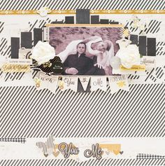Wedding layout with Simple Stories collection The Story of Us made by Crafty by AgnieszkaBe