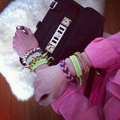 #neon #pinkonpink #friendship #bracelet #links #linksoflondon #proenzaschouler #ps11