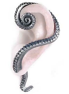 This makes me wish I had pierced ears! Kraken Tentacle Wrap Earring by Alchemy 1977, Silver