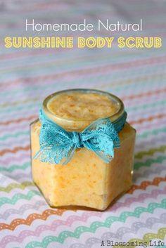homemade sunshine body scrub