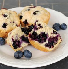 Blueberry Muffins with Whole Wheat on MyRecipeMagic.com