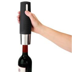 The Best Electric Wine Opener - Hammacher Schlemmer - $59.95 - has a base that charges wine opener and preserver - voted tested best - earned the best rating for electric wine openers - GREAT GIFT