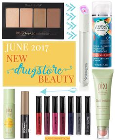 Take a peek at the new drugstore makeup and beauty products that have launched during June 2017. Just in time for summer, we've got a ton of new launches!