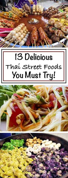 13 Delicious Thai Street Foods You Must Try! Thai Street Food, Best Street Food, Best Thai Food, Thailand Travel, Asia Travel, Thailand Vacation, Thai Dishes, Thai Recipes, Budget Meals