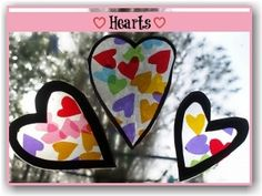 Activities for Preschoolers - A good activity for learning colors which produces a stunning stained glass window effect.