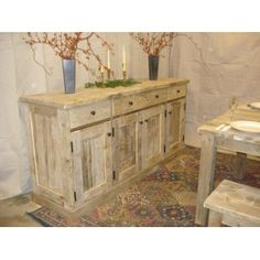 Driftwood Sideboard Cabinet. http://thesimplelifedecor.com/cottage-garden/outdoor-wall-art/Infinity-outdoor-art