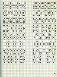 Pattern for ornaments with hama