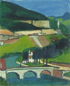 am Doubs 1926 Painting, Art, Switzerland, Auction, Painting Art, Kunst, Art Background, Paintings, Performing Arts