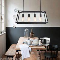 Edison Light Fixture Rustic Chandelier Dining Room Kitchen Island Lighting Lamp